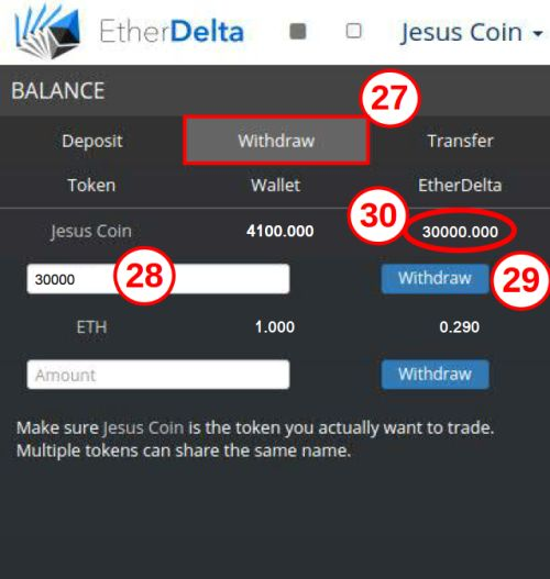 Etherdelta Withdraw