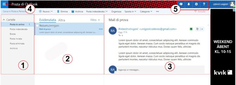 Layout Hotmail account